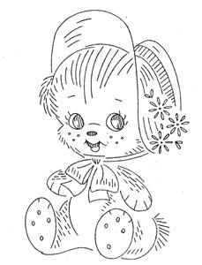 Vintage Hand Embroidery Pattern PDF File Design 7090 Nine Adorable ... : hand embroidery patterns for baby quilts - Adamdwight.com