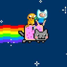 cartoon network nyan cat adventure time