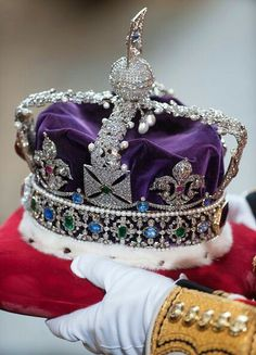 One of the State Crowns from the Crown Jewels