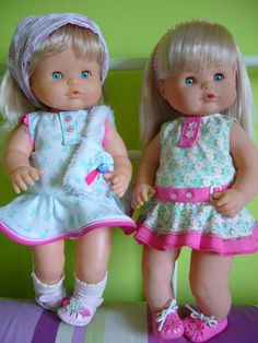 Patrón de vestido convolantes de la muñeca Nenuca. Fácil de confeccionar, puedes servirpara muñecas de similares medidas aunque no sean Nenucas o adaptar la medida del patrón para cualquier otra …