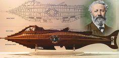 --- SUBMARINOS ---: Un submarino soñado: el Nautilus de Julio Verne