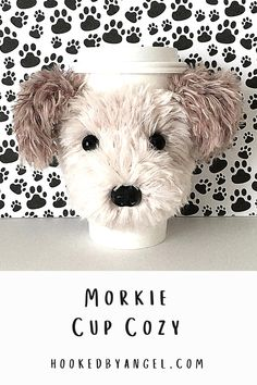 Can you handle the tail wag-worthy cuteness of this Morkie dog cup cozy crochet pattern?! Make this realistic canine creation for yourself or any Morkie lover and they will think you're paw-some! You will never have so much fun crocheting! Dog Mom Gifts, Dog Lover Gifts, Dog Lovers, Dog Coffee, Coffee Cozy, Mug Cozy Pattern, Crochet Dog Patterns, Crochet Cup Cozy, Maltipoo