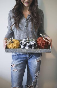 PDF Crochet Pattern for THREE Rustic Pumpkins #PaidAd, #ad, #affiliatelink #halloween #Etsy #crochet #pattern