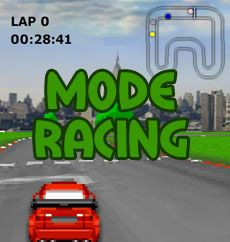 Mode Racing offers some exciting short track racing against 3 other opponents.