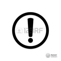 Vector. Icono de signo de exclamación en el círculo.