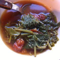 Chou choos leaves bouillon #soup #mauritian recipe #homestyle