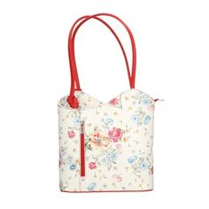 Chicca Borse Woman Shoulder Bag Floral Pattern in Genuine Leather Made in  Italy 5460b8d5364