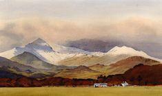 Snowdon and Lliwedd, an original watercolour painting by Rob Piercy