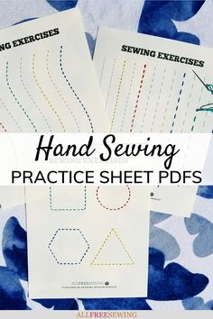 Hand Sewing Practice Sheets PDFs (Printable!) #nationalsewingmonth #nsm2021