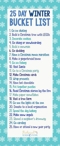 25 Day Winter Bucket List, Best Winter Activities Ideas, 25 Winter Activities, Winter Break Bucket List, December Bucket List, Winter Activities for Kids, Winter ideas #winteractivities #bucketlist #winterbucketlist