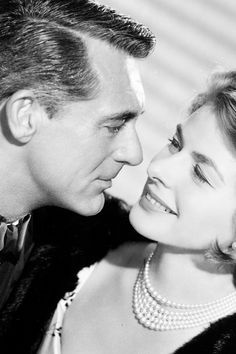 """Cary Grant and Ingrid Bergman from  """"Indiscreet"""" (1958)"""