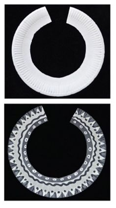 'African Tribal Neckwear' Project - all you need is a paper plate and black felt pen - and some Imagination of course!