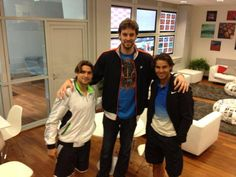 Laker's Pau Gasol visited Ferrer & Nadal before their 2013 French Open Finals Match
