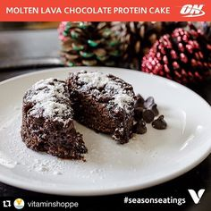 I bet this would be great with @optimumnutrition's #allnatural chocolate whey as well. That was the first powder I baked with! Great product for a great price at @vitaminshoppe!  #Repost @vitaminshoppe with @repostapp.  Molten Lava Chocolate Protein Cake  you no longer have to tell your waiter 30 minutes before you eat your meal that you want some chocolate-y dessert goodness. You can now recreate this decadent treat at home using protein powder from Optimum Nutrition.  Recipe Makes 6…