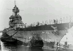 USS Maryland BB-46 was torpedoed while anchored off Saipan during the assault on that island. The Type 91 aerial torpedo narrowly missed the similarly anchored USS Pennsylvania BB-38 and struck the port side of Maryland's bow, blasting a hole through and out the starboard side. The Navy promptly ceased anchoring in un-secured areas until the Okinawa campaign...when the Pennsylvania was torpedoed in the stern while at anchor.