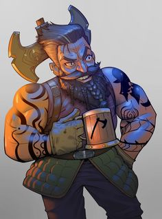 m Dwarf Barbarian Lt Armor Battle Axe urban City Tavern drinking Character by Junior Ferreira ArtStation lg Fantasy Dwarf, Fantasy Rpg, Fantasy Artwork, Fantasy Races, High Fantasy, D D Characters, Fantasy Characters, Character Concept, Character Art