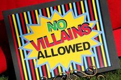 2 SUPERHERO Signs - SUPERHEROES- Batman- Superman - Boy Birthday Party - Girl Wonder Woman -Spiderman - INSTANT Download