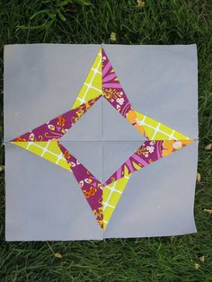 'Square in a Star ' quilt block