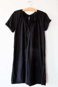 raquel allegra black smock dress – Lost & Found