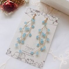 Diy Jewelry Rings, Diy Crafts Jewelry, Bead Jewellery, Beaded Jewelry, Diy Bracelets Patterns, Jewelry Packaging, Beaded Earrings, Fashion Jewelry, Hair Accessories