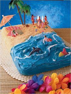 Kids birthday cake ideas - Happy Birthday Cakes And Wishes Easy Kids Birthday Cakes, Easy Cakes For Kids, Happy Birthday Cakes, Birthday Fun, Cake Birthday, Summer Birthday, Birthday Wishes, First Birthday Photos Girl, Surfer Cake
