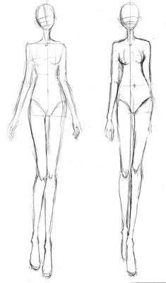 Fashion design template, front view, woman.