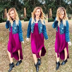Maxi dresses have our heart already but then you throw a knot in there. Casual Dress Outfits, Fall Outfits, Cute Outfits, Fashion Outfits, Fashion Clothes, Fall Transition Outfits, Booties Outfit, Knot Dress, Online Clothing Boutiques