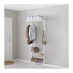 ALGOT Wandschiene/Böden/Schuhaufbewahrung, weiß - IKEA