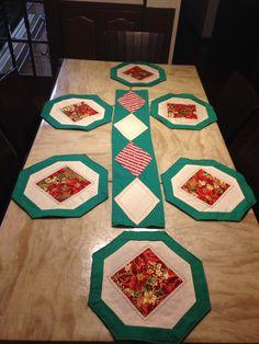 Jogo americano para mesa decoração. De Natal