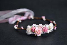 Flower Crown  Headband Newborn  Flowergirl by LuckyKidsHandmade