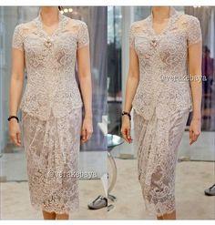 ideas for dress brokat modern indonesia Vera Kebaya, Batik Kebaya, Kebaya Dress, Dress Pesta, Batik Dress, Kebaya Hijab, Model Kebaya Brokat Modern, Dress Brokat Modern, Modern Kebaya