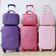 Hello Kitty Suitcase Set Children Women Luggage Travel Bag Trolley 22 to 28 inch Kids Luggage Sets, Women's Luggage & Travel Bags, Best Luggage, Pink Luggage, Luggage Trolley, Hello Kitty House, Hello Kitty Bag, Hello Kitty Items, Hello Kitty Bedroom Set