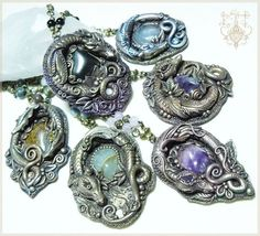 More Dragon Pendant-Made to order by EnchantedTokenArt.deviantart.com on @deviantART