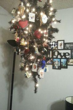 Upside down alice in wonderland christmas tree