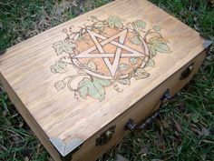 Pentacle and Ivy Wood Altar Box Small by TheWhimsicalPixie11, $50.99