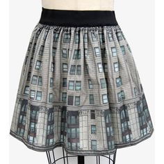 City Building Full Skirt ($46) ❤ liked on Polyvore