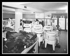 "Guest Columnist, Mama Va for KelleB Blog | ""Put Through the Wringer"" - The Laundromat - 1950s"