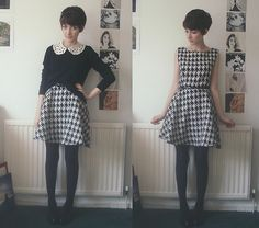 Houndstooth Dress, Jumper, Collar | The ending to a sad story on a monday afternoon (by Ashleigh F.) | LOOKBOOK.nu