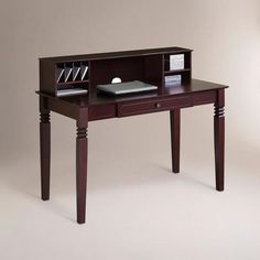 One of my favorite discoveries at WorldMarket.com: Walnut Brown Douglas Desk with Hutch