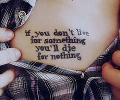 If you don't live for something