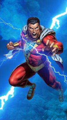 Shazam Comic, Shazam Dc Comics, Captain Marvel Shazam, Arte Dc Comics, Dc Comics Superheroes, Dc Comics Characters, Comic Wallpaper, Wallpaper Animes, Marvel Wallpaper