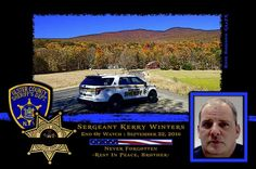 Sheriff Paul VanBlarcum of the Ulster County Sheriff Department in New York sadly reports the death of Sergeant Kerry Winters. http://www.lawenforcementtoday.com/in-memoriam-sergeant-kerry-winters/