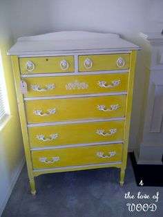 4 the love of wood: LET THE SUN SHINE IN - yellow dresser