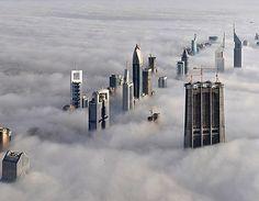 view from the burj khalifa skyscraper