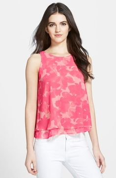 Free shipping and returns on Chelsea28 Double Layer Trapeze Top at Nordstrom.com. A sleeveless top is fitted at the chest and gradually flared at the midriff for a classic trapeze silhouette, with a sheer underlay peeking from beneath the hemline.