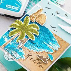 Sunrise Colors, Hero Arts Cards, Nautical Cards, Beach Cards, Sea Theme, Ocean Themes, In The Tree, Card Kit, Diy Cards