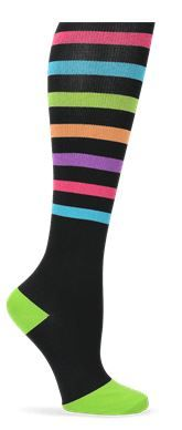 Nurse Mates Compression Trouser Socks - Bright Stripe Style # LO883753  #uniformadvantage #uascrubs #adayinscrubs #socks