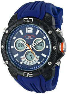 U.S. Polo Assn. Sport Men's US9496 Analog-Digital Display Analog Quartz Blue Watch