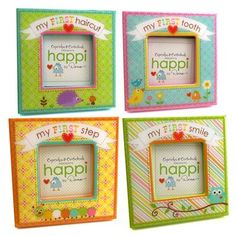 Twos Company Happi Set Of 4 My First Photo Frames