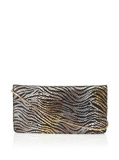 Inge Christopher Women's Portia Animal Print Flap Clutch,